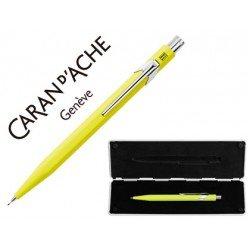 Estuche amarillo con portaminas marca Caran D´ache 844 trazo 0,7mm