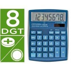 Calculadora sobremesa Citizen CDC-80 Celeste