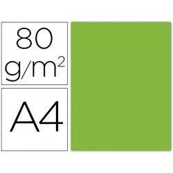 Papel color Liderpapel A4 verde lima 80g/m2 15 hojas