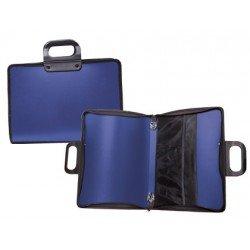 Cartera Liderpapel portadocumentos con asa y cremallera Azul