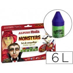 Barra maquillaje Alpino monsters 6 colores surtidos