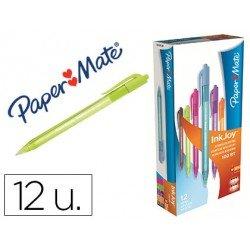 Boligrafo Paper Mate Inkjoy 100 retráctil 1 mm colores surtidos pack 12 unidades