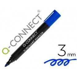 Rotulador Q-Connect para bloc de congreso Azul