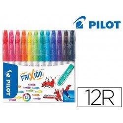 Rotulador Pilot Frixion Colors Punta Fina Borrable Estuche 12 Colores Surtidos
