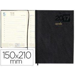 AGENDA 2017: tamaño 15X21 CM, DIA PAGINA. Negra. Encuadernada Liderpapel CORFU. papel 60 gramos
