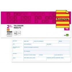Talonario Recibos 2 en folio Liderpapel