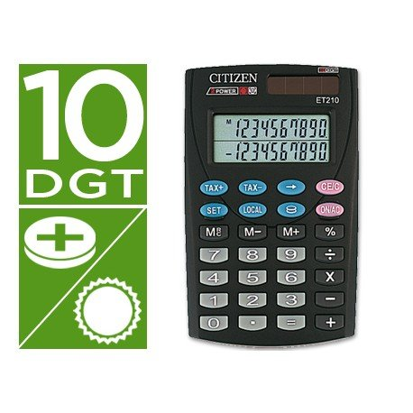 Calculadora Bolsillo Citizen ET-210 10 digitos