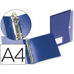 Carpeta de 4 anillas Beautone polipropileno Din A4 azul