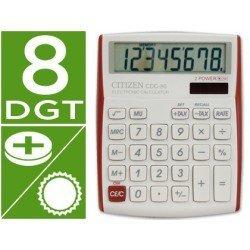 Calculadora sobremesa Citizen CDC-80 8 digitos roja