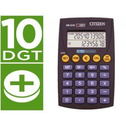 Calculadora Bolsillo Citizen DE-210 euro 10 digitos