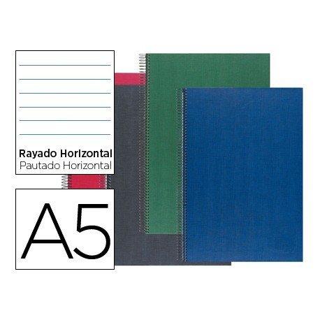 Bloc Liderpapel serie Paper Coat A5 rayado y 160 hojas de 70 gr
