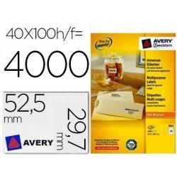 Etiqueta adhesiva Avery 52,5 x 29,7mm multiuso
