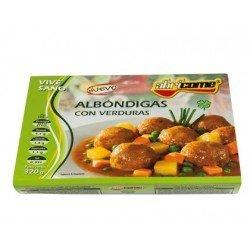 Albondigas con verduras Abricome preparadas para calentar