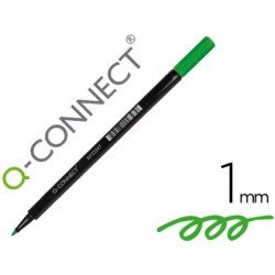 Rotulador Q-Connect punta de fibra redonda 1mm verde