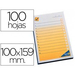 Bloc de notas preimpresas Post-it 102 x 149 mm.
