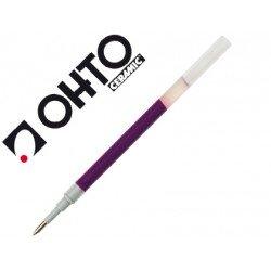 Recambio boligrafo ohto k-words 0.7 tinta gel violeta