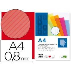 Tapa de Encuadernacion Onudlada Polipropileno Liderpapel A4 Rojo 0.8mm