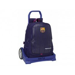 Mochila Doble F.C. Barcelona Con Carro Evolution 32x16x44 cm 2ª equipacion