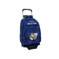 Mochila Doble Real Madrid Con carro 905 32x16x42 cm Blue