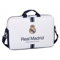 "Funda Real Madrid para ordenador portatil 15, 6"" 40x4x27 cm 1º Equipación"