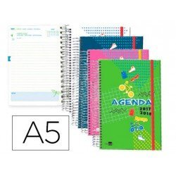 Agenda Escolar 17-18 Dia por pagina A5 Bilingüe Liderpapel Classic No se puede elegir color
