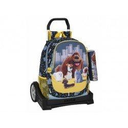 Mochila Mascotas con carro 32x16x44 cm