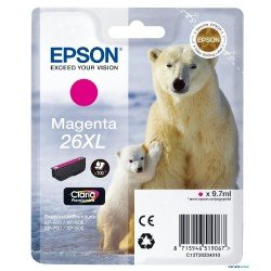 Cartucho Epson 26XL Magenta C13T26334012