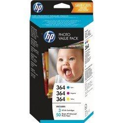 INK-JET HP 364 DESKJET3070A / PHOTOSMART 5510 / B010A / C309N / B8550 / C63241 / D5460 PACK MULTICOLOR