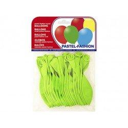 Globos Pastel Verde Pistacho Bolsa 20 unidades