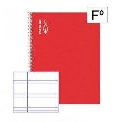 Libreta Escolofi Espiral Folio 100 hojas Pauta 3,5 mm Margen 180952101 - bajo pedido -