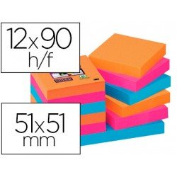 Post-It ® Bloc de Notas Quita y Pon Super Sticky 51X51 mm Bangkok