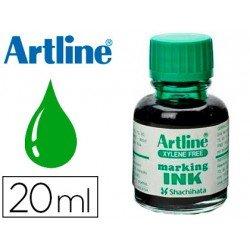 Tinta Artline Verde rotulador pizarra blanca 500-A Frasco 20 ML