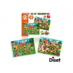 Puzzle montando a caballo y de picnic a partir de 5 años 2x48 piezas marca Diset