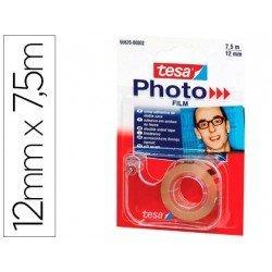 Cinta adhesiva Doble cara Foto Tesa Film 7,5m x 12mm Con portarollos
