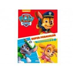 Cuaderno de colorear Patrulla Canina Super Pegacolor 40 pags marca Saldaña