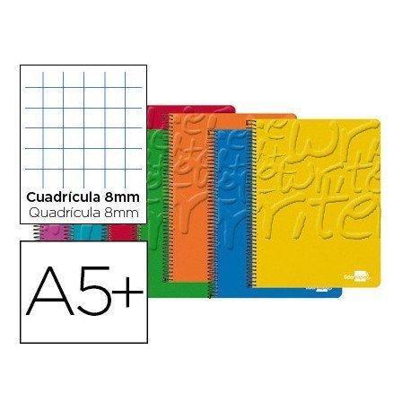 Bloc Cuarto con espiral Tapa cartoncillo impreso serie Classic Liderpapel