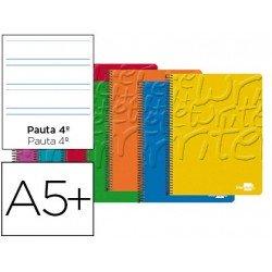 Bloc Cuarto espiral Tapa cartoncillo impreso serie Write Liderpapel pauta 3.5 mm