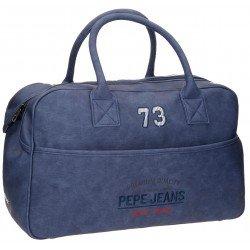 Bolsa viaje 32x50x19 cm Piel Sintética Pepe Jeans Jack Azul