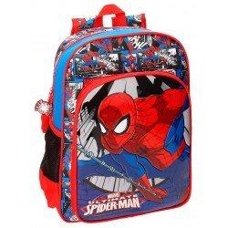 Mochila Spiderman Comic Microfibra 29x38x12 cm Roja