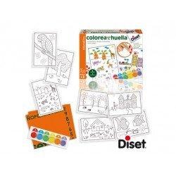 Juego infantil a partir de 3 años colorea con tu huella marca Diset