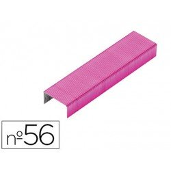 Grapas Rexel N.56 26/6 rosa 2000 unidades