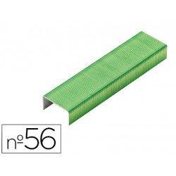 Grapas Rexel N.56 26/6 verde lima 2000 unidades