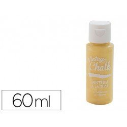 Pintura Acrilica Vintage Chalk Efecto Tiza Color Amarillo Dorado 60 ml Chalk Paint