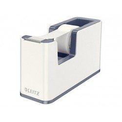 Portarollos sobremesa Leitz Wow Plastico para cinta de 33m Blanco
