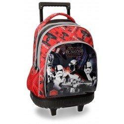 Mochila Star Wars VIII 43x32x21 cm en Microfibra con ruedas