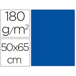 Cartulina Liderpapel Azul 50x65 cm 180 gr Pack 25 uds