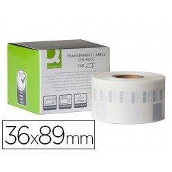 Etiqueta Adhesiva Q-Connect KF18538 Compatible Dymo 36x89 mm Caja 260 uds