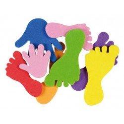 Figuras Pies y manos Autoadhesivas Colores Surtidos marca itKrea