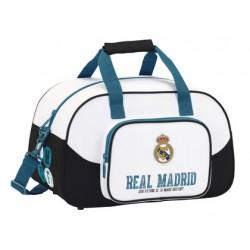 Bolsa Deporte Real Madrid 1ª Equipación 17/18 50x25x25 color blanco