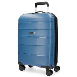 Maleta de cabina 55x39x20 cm Rigida con 4 ruedas Movom Wind Azul